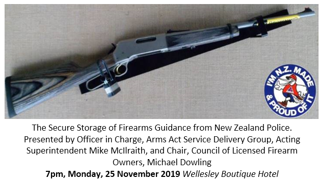 The Secure Storage of Firearms Guidance from New Zealand Police