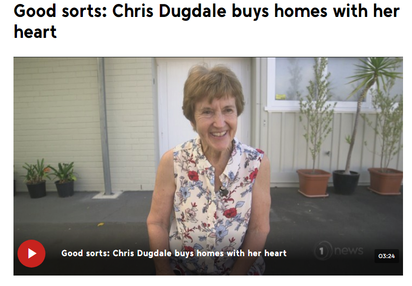 Good sorts: Chris Dugdale buys homes with her heart