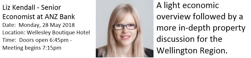 2018 May Member Meeting - Liz Kendall - Senior Economist at ANZ Bank